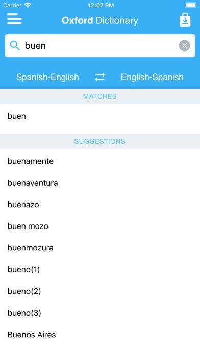 Conc oxford spanish dict apprecs oxford spanish dict screenshot spiritdancerdesigns Image collections
