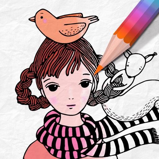 Girls Coloring Book Magic 2018