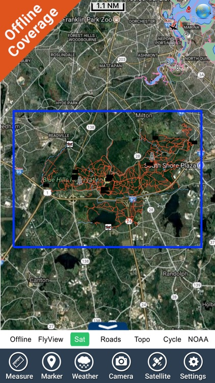 The Blue Hills Reservation GPS screenshot-4