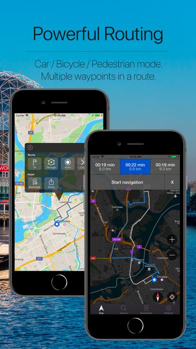 Canada Offline Navigator Screenshot