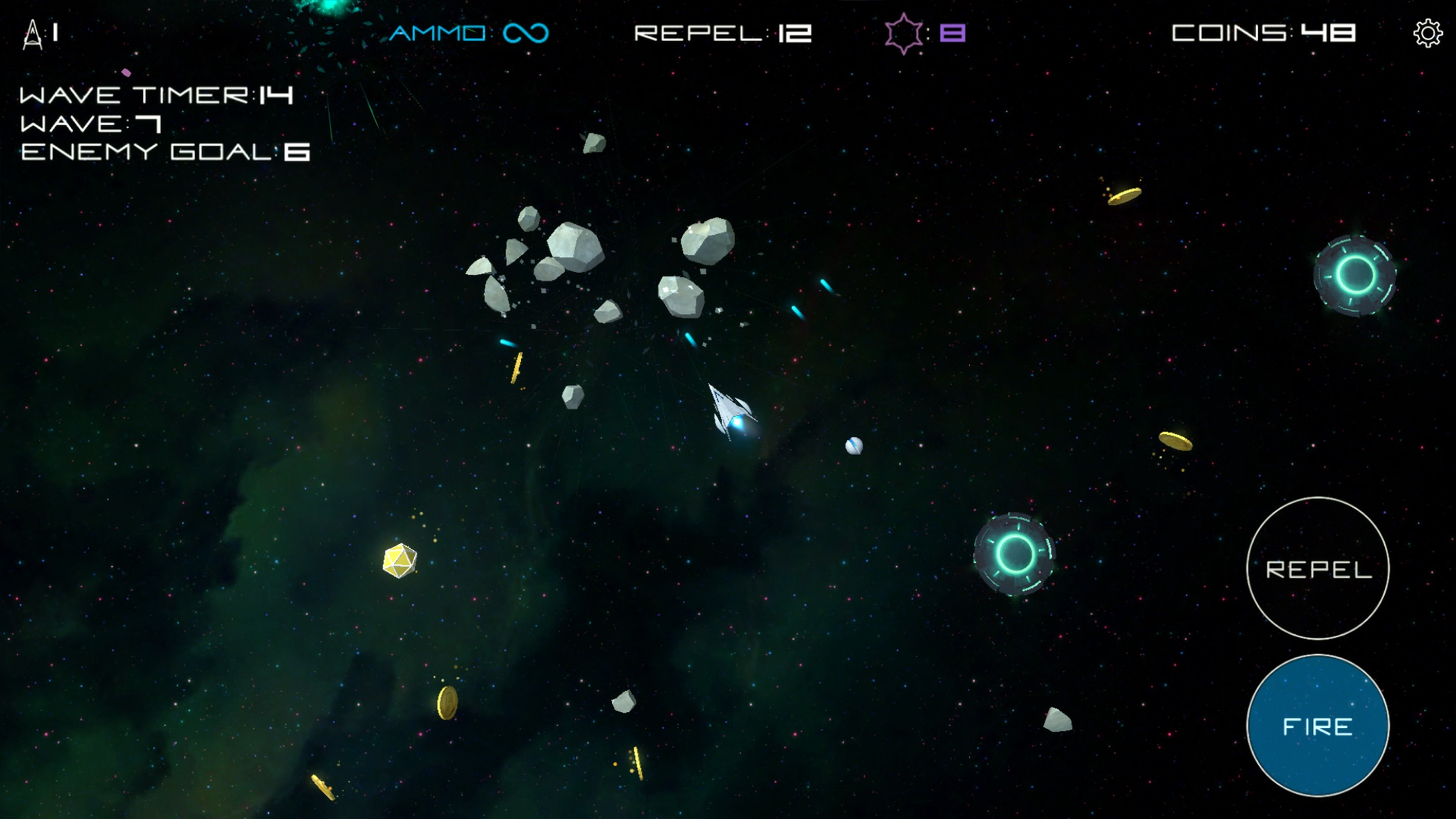 Screenshot do app Astronoidz