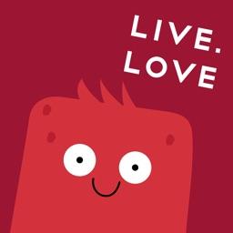 "Стикеры LIVE.LOVE ""Ливлавики"""