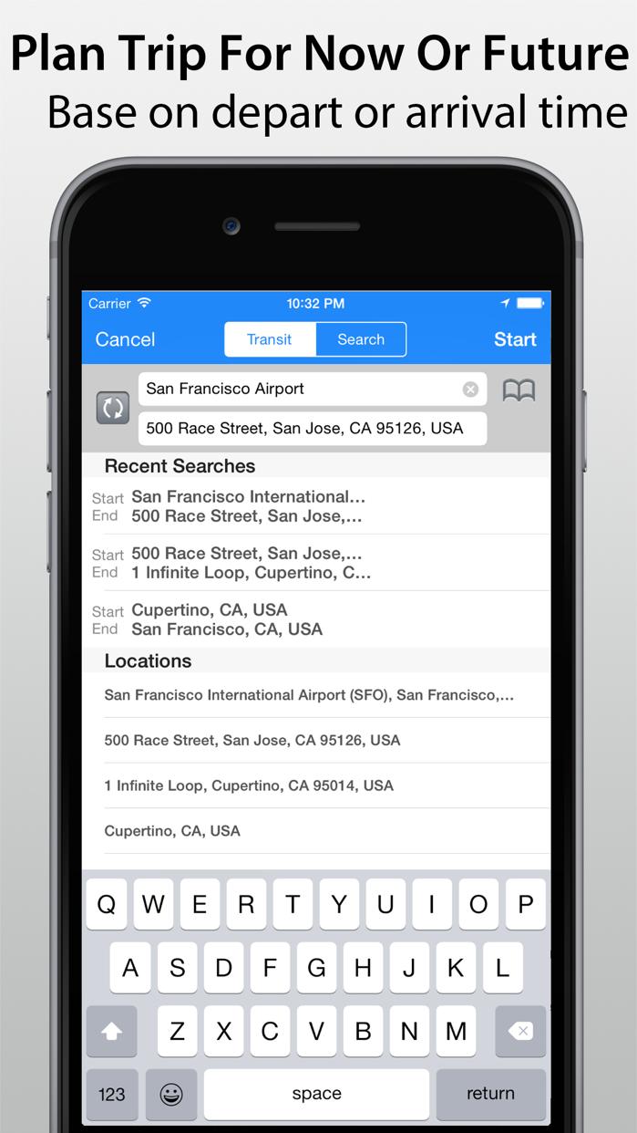 Transit Navigation Screenshot