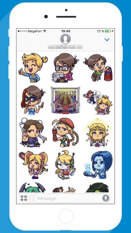 Cosplay Girl STiK Sticker Pack