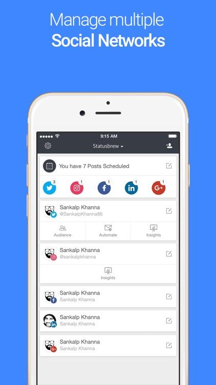 Statusbrew: Scheduling for Twitter & Instagram