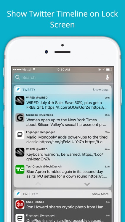 Tweety Pro - Show Twitter Timeline on Lock Screen screenshot-0
