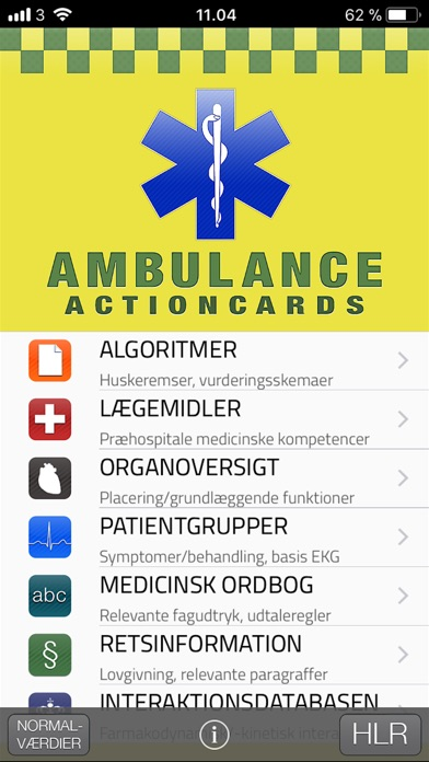 Screenshot for Ambulance Actioncards in Denmark App Store