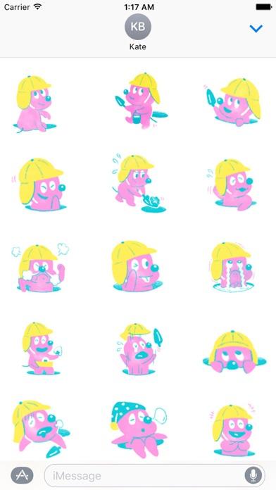 Cute Pink Woodchuck Sticker - 窓用