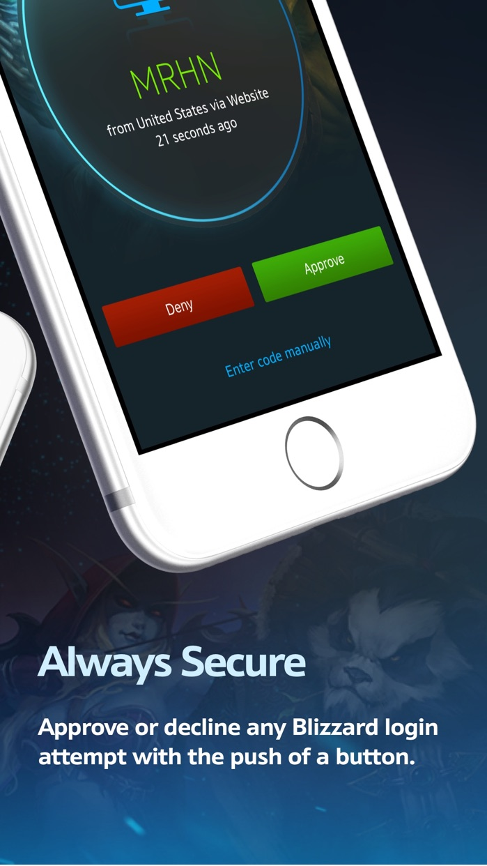 Blizzard Authenticator Screenshot