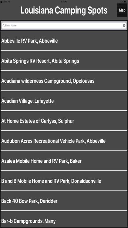Louisiana Camping Spots