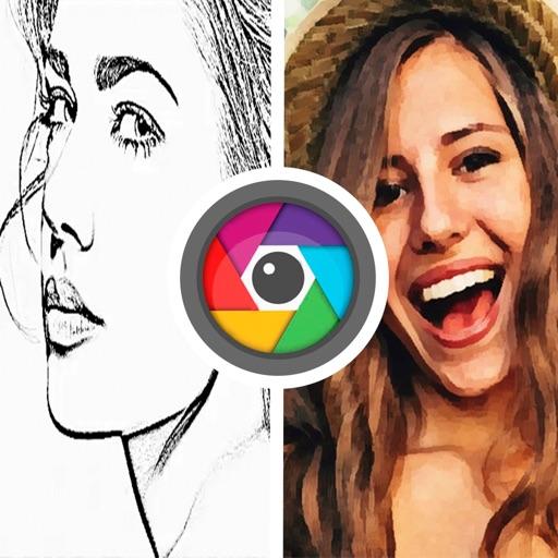 Photo pencil drawing sketch