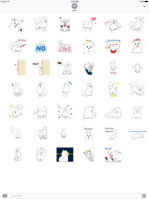 Laika The Samoyed Dog Sticker screenshot 4