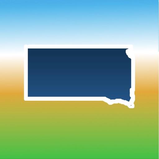 Aqua Map South Dakota SD Lakes