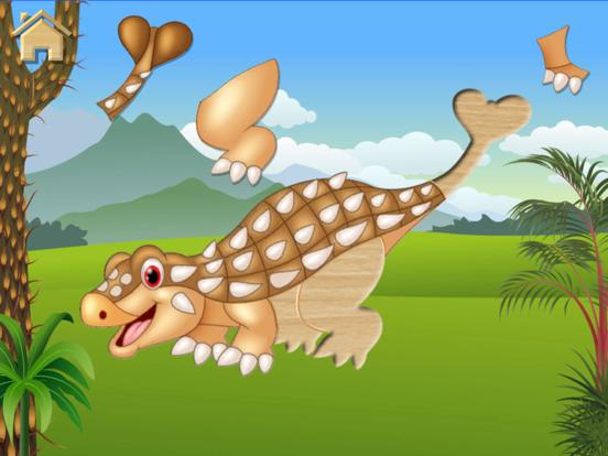 Игра Динозавры, пазлы - полная игра
