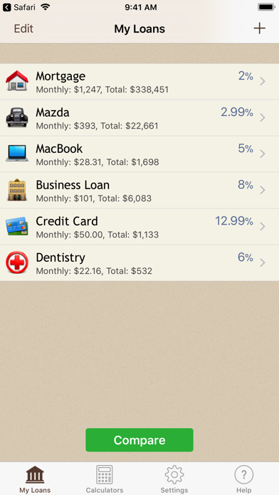 Loan Calculator + Screenshot