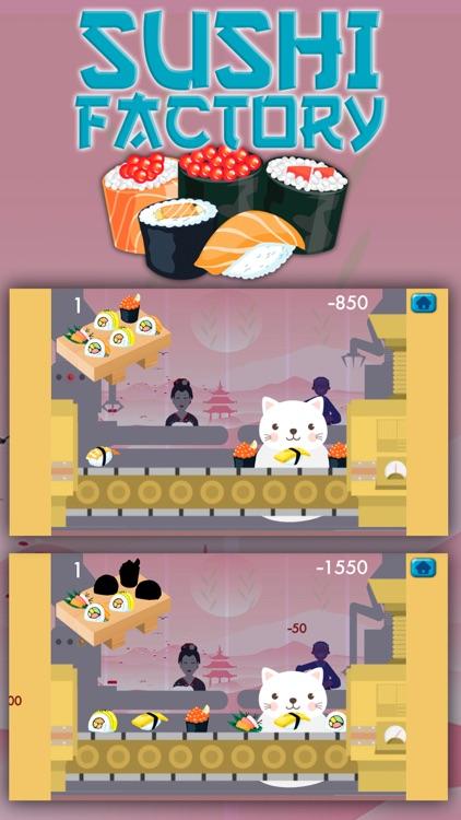 Cat 's sushi factory game screenshot-3