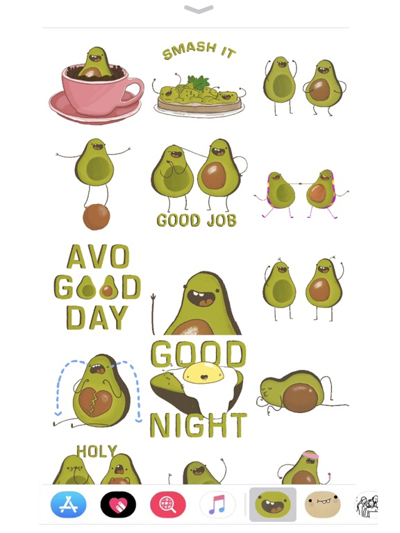 Screenshot #2 for Avocado Stickers