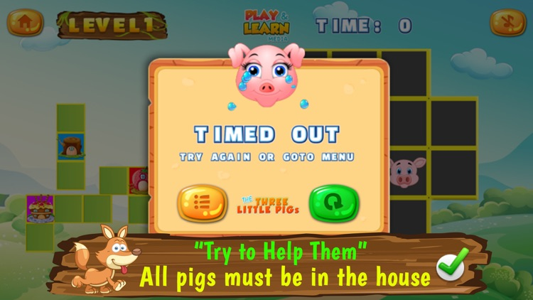 Three Little Pigs Puzzles screenshot-4