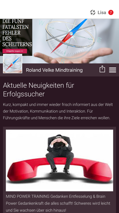 Roland Velke Mind Training screenshot 1
