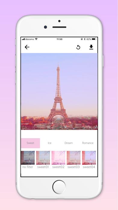 SweetCamera ピンク加工 カメラアプリのおすすめ画像2