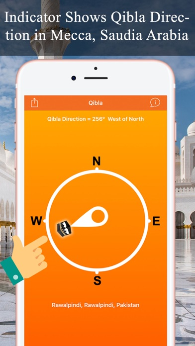 Qibla Compass & Locator Pro screenshot one