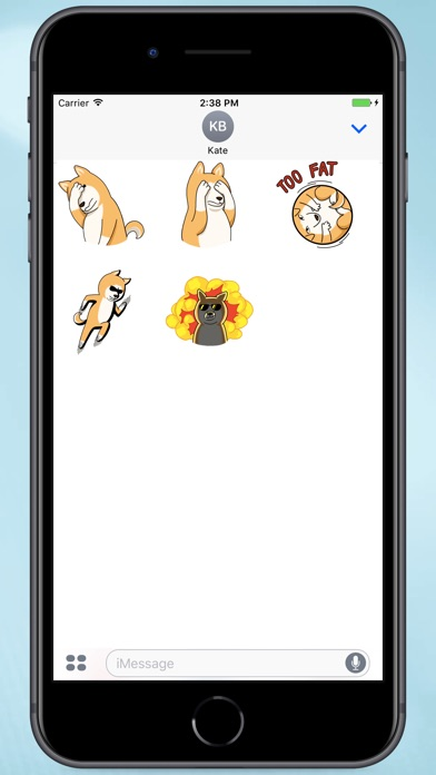Screenshot for Akita's Life Stickers in Colombia App Store