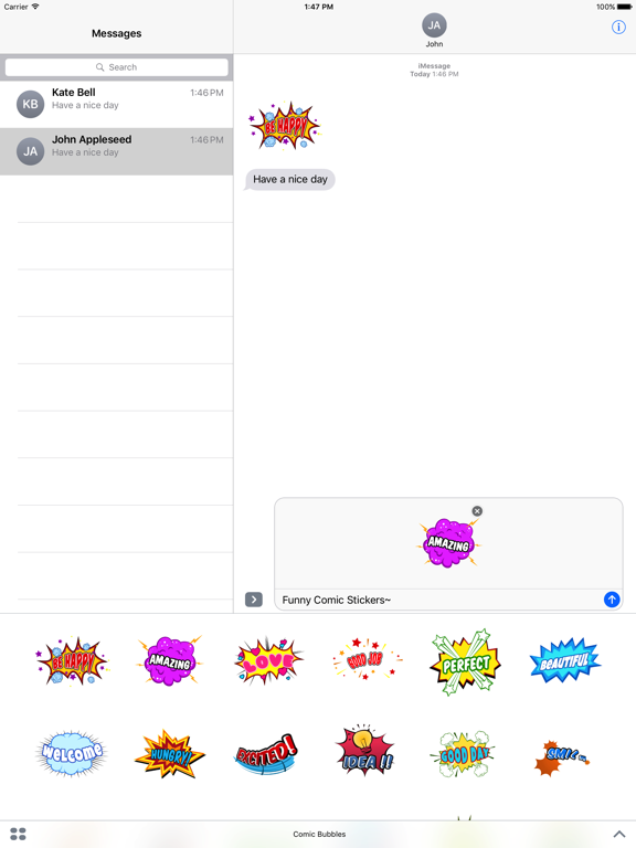Animated Comic Speech Bubbles Pack Collection screenshot 6