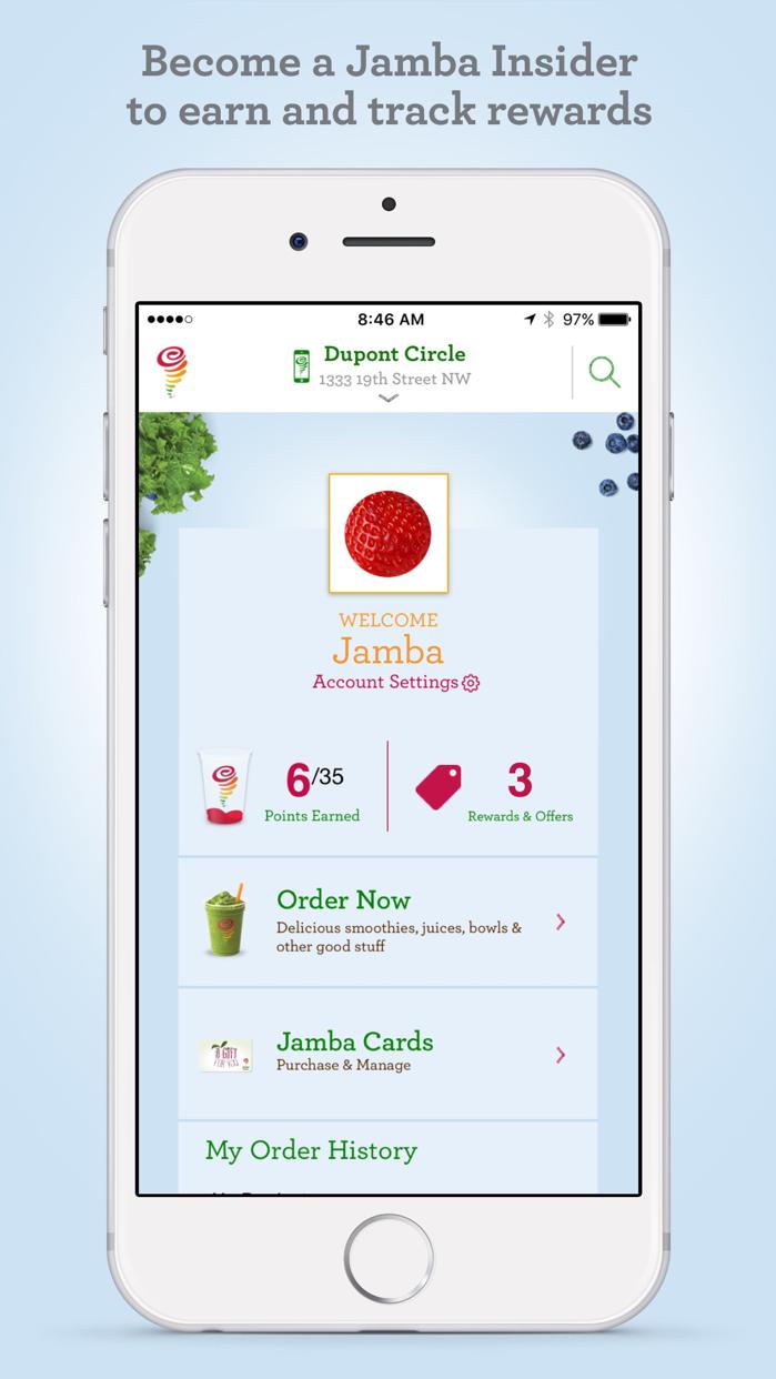 Jamba Juice Screenshot