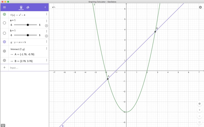GeoGebra Graphing Calculator for Mac