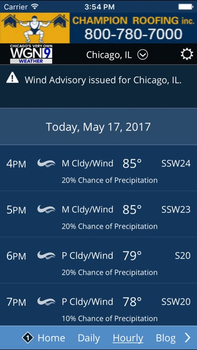 Screenshot for WGN-TV Chicago Weather in United States App Store