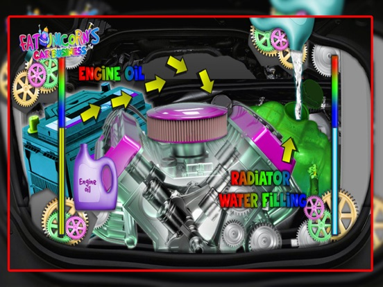 Mr. Fat Unicorn Car Mechanic screenshot 13