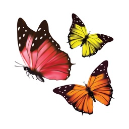 Glossy Butterflies Stickers