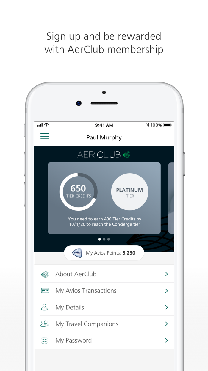Aer Lingus Screenshot