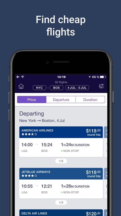 OneTwoTrip - Hotel and Flight Booking App.