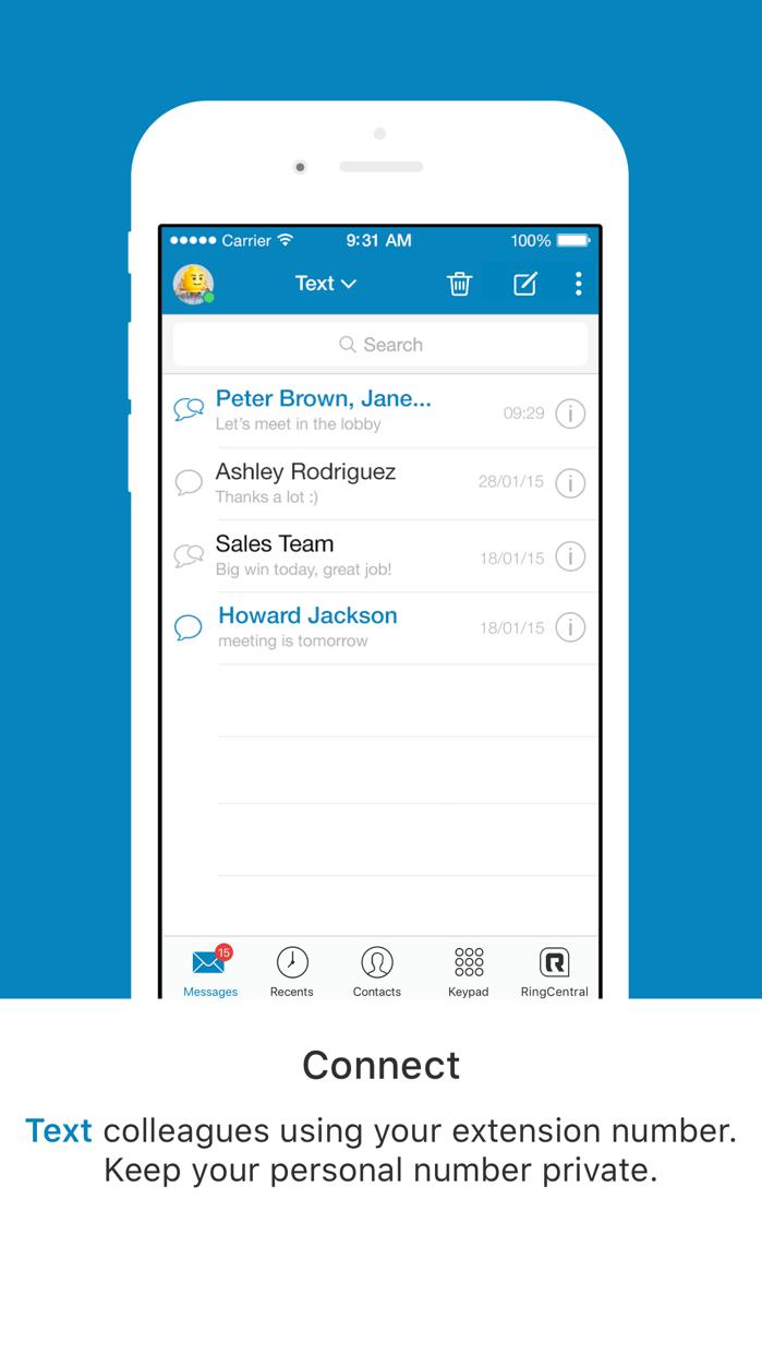 RingCentral Phone Screenshot