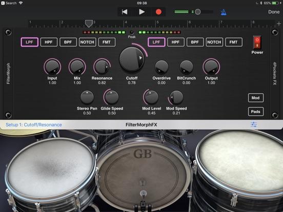 FilterMorph AUv3 Audio Plugin screenshot 10