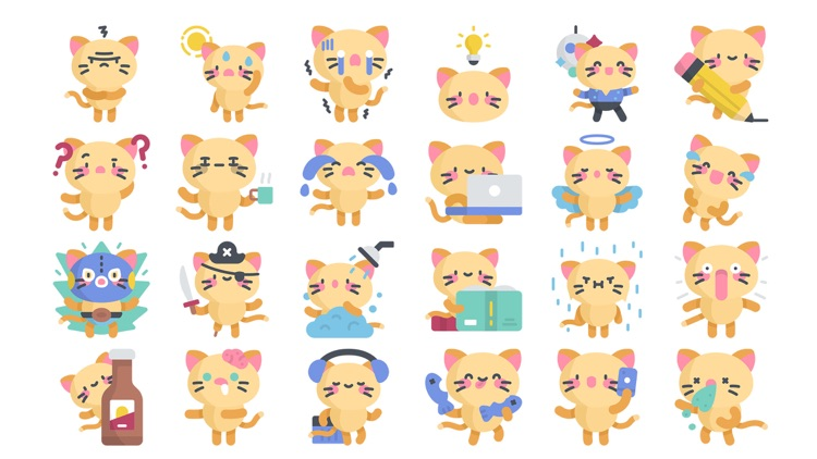 Kitty Stickers..