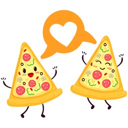 Pizza sticker pack I Love Pizza stickers