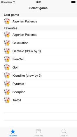 250+ Solitaires screenshot for iPhone