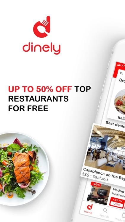 dinely: restaurant discounts screenshot-0