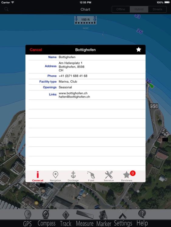 Starnberg lake GPS Charts Pro screenshot-3