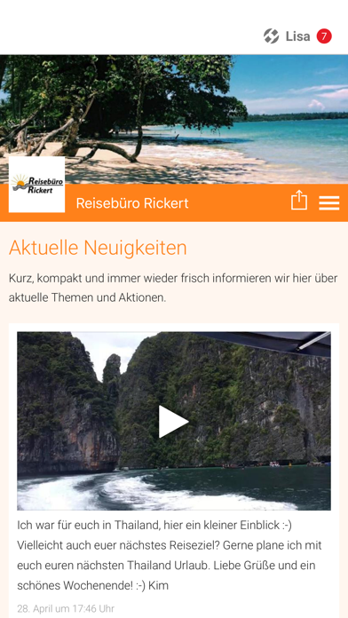 Reisebüro Rickert screenshot 1