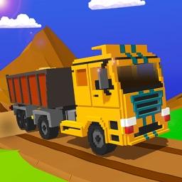 Uphill Blocky Truck Simulator
