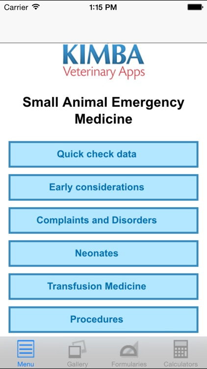 Veterinary Emergency Medicine Small Animal screenshot-0