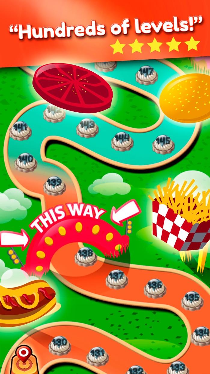 Super Burger Match 3 Deluxe HD Screenshot