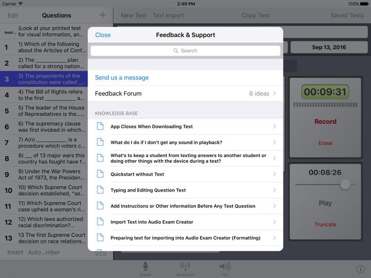 Audio Exam Creator screenshot-4