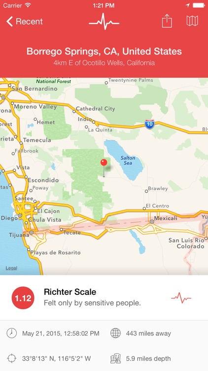 My Earthquake Alerts & Feed screenshot-0