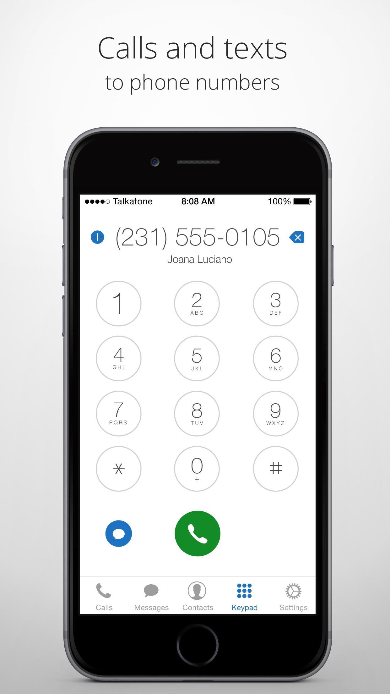 Talkatone: WiFi Text & Calls Screenshot