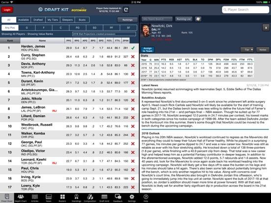 Fantasy Basketball Draft '18 screenshot 7