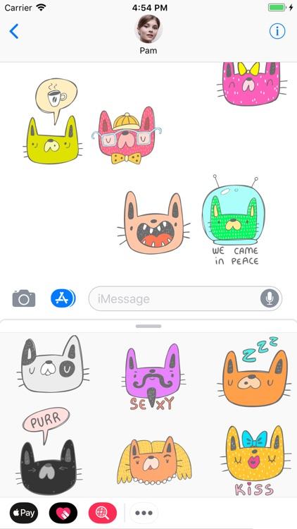 Cat Funnymoji : Stickers